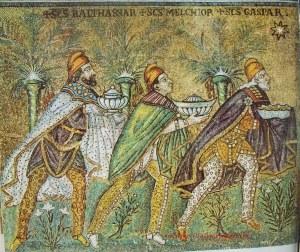 Mosaico bizantino Los reyes magos