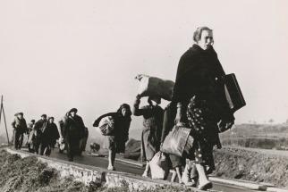 refugiados-de-la-guerra-civil-espac3b1ola-caminando-hacia-la-frontera-francesa