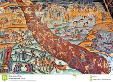 judgement-day-painted-wall-fresco-horezu-monastery-romania-65934161