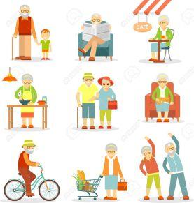 50996029-Hombre-y-mujer-de-actividades-para-personas-mayores-caminar-cocinar-ir-de-compras-el-ciclismo-la-rec-Foto-de-archivo