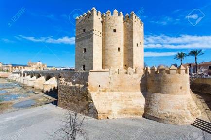The Roman bridge and the Torre de Calahorra in Cordoba